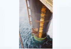 replacing ladder section offshore using rope access