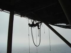 rope access painting and blasting underdeck