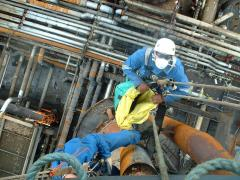 lagging removal using rope access