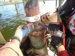 rope access needle gunning offshore