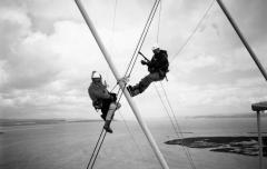 Installing dampener to the Second Severn Crossing