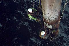 rope access offshore on damaged riser