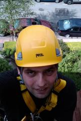 Me working on a residetial building in London