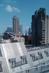 The view from building in Barbican, London