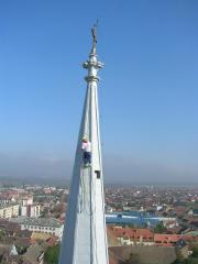 Rope Access on Vrsac, Serbia, Cathedral