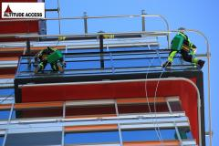 Rope Access Window Cleaning Job