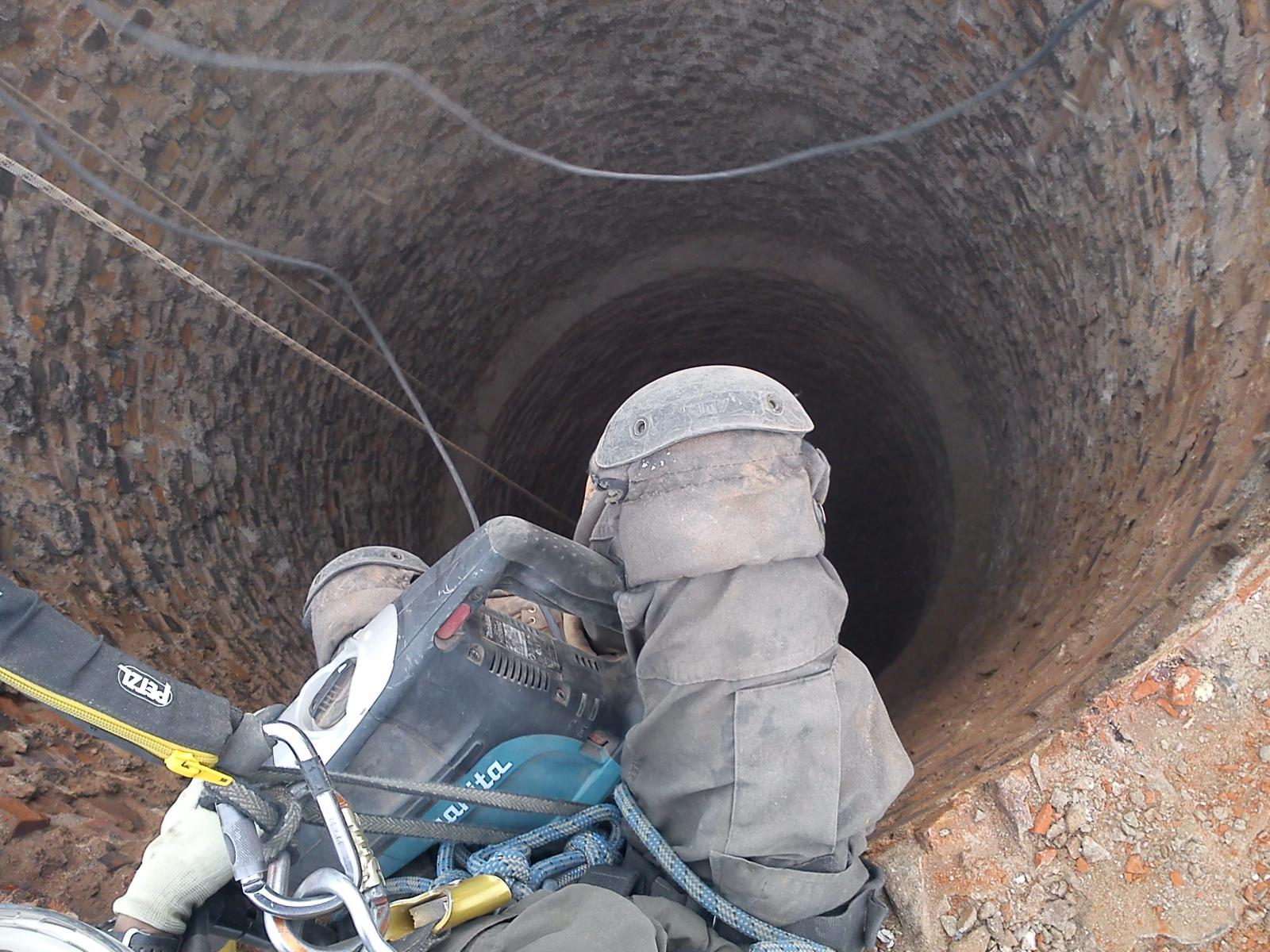 Rope Access chimney repair