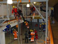 Rope Access Assesment in training center, Klaipeda, Lithuania