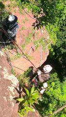 rescue work on a cliff by my house.