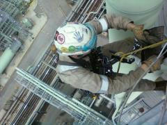 Up high - Rope Access Refinery Work